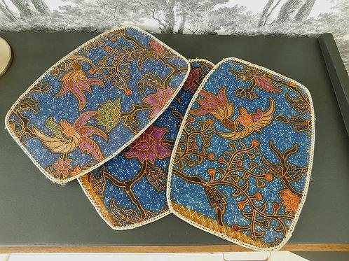 Ensemble de 3 sets de table en wax vintage