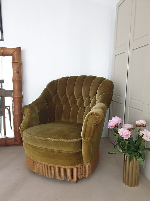 Fauteuil crapaud grand format