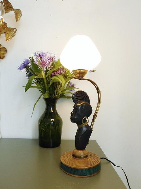 Lampe vintage des années 40 ethnique