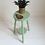 Thumbnail: Tabouret / porte-plantes révisité vert amande