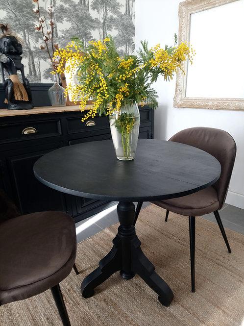 Très ancienne table violon noire