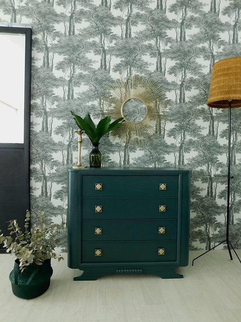 Commode Art Déco vert bleuté