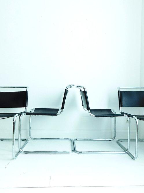 4 chaises B33 de Marcel Breuer