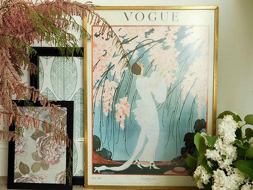 Affiche publicitaire Vogue Art Déco
