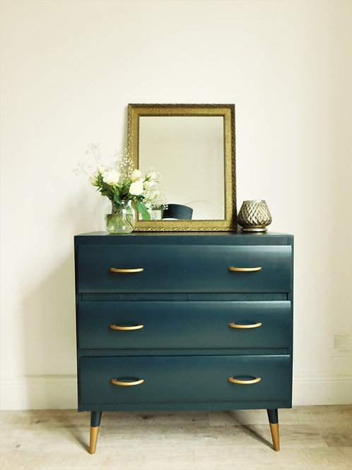 "Commode vintage""dark green"" chic"