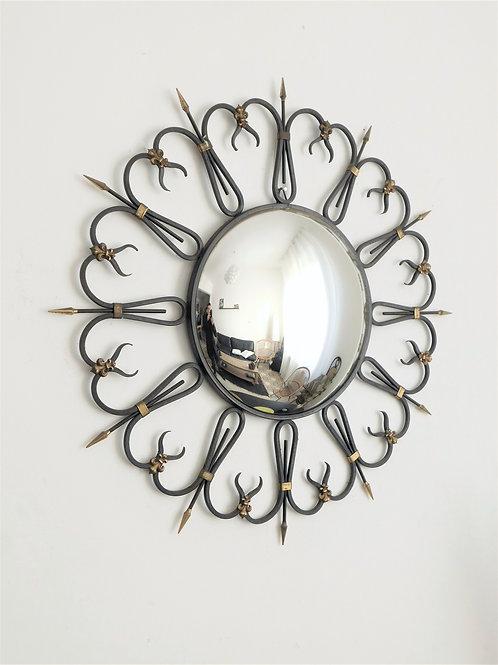 Miroir soleil convexe vintage