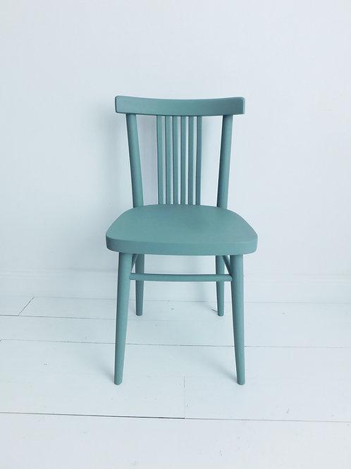 Chaise bistrot vintage bleu de vert