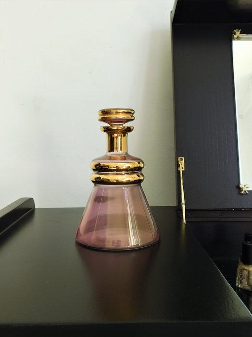 Flacon / Carafe début XXe rose et doré