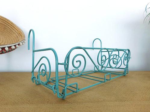 3 Supports pour jardinière / balconnière vintage en métal émaillé