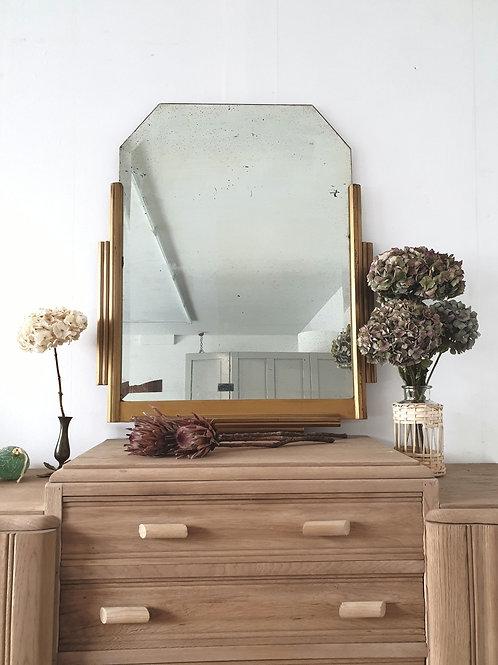 Ancien Miroir Art Déco ( livraison par transporteur gratuite)