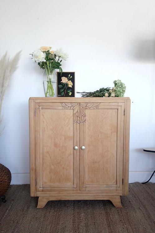 meuble vintage 2 portes brut