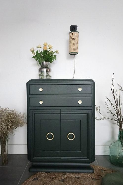 """Meuble Art Déco vintage vert """"studio green"""""""