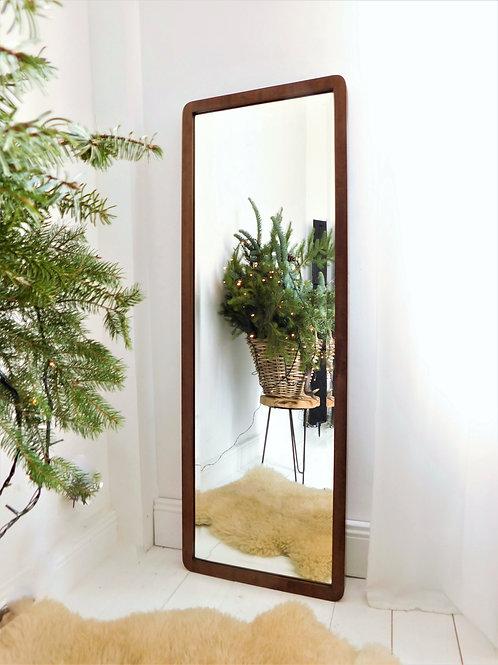 Grand miroir scandinave biseauté des années 60