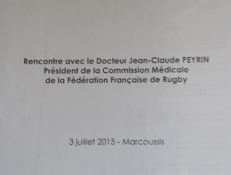 Rencontre avec le docteur Jean-Claude PEYRIN, Président de la Commission Médicale de la Fédération F