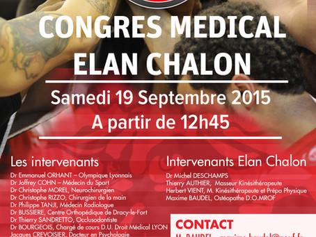 Congrès Médical ELAN CHALON  19 Septembre 2015