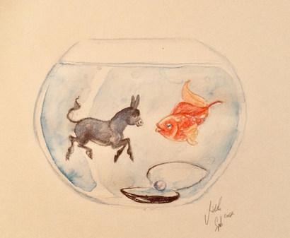 20. Esel und Goldfischglas