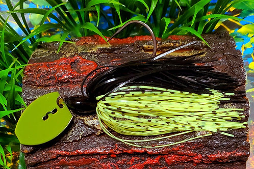 "Shaker Bladed Jig ""Black and Yellow"""