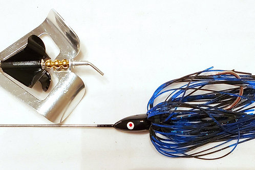 "Twin Turbo Buzzbait ""Black N Blue"""