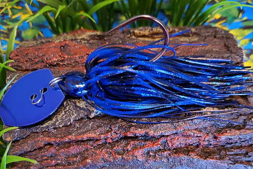 Black and Blue with Blue Illusion Jig Head