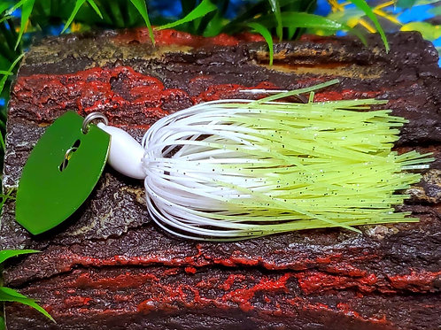 White and Chartreuse Poison Tail
