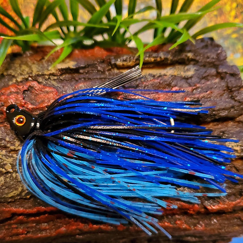 "Elite Swim Jig ""Black and Blues"""