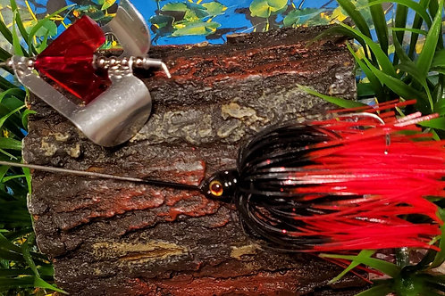 "Twin Turbo Buzzbait ""Black Widow"""