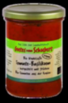 Nudelsoße Tomate-Basilikum