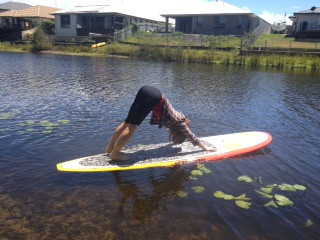 Practice yoga on the water