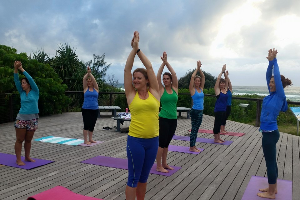 cabarita beach yoga deck