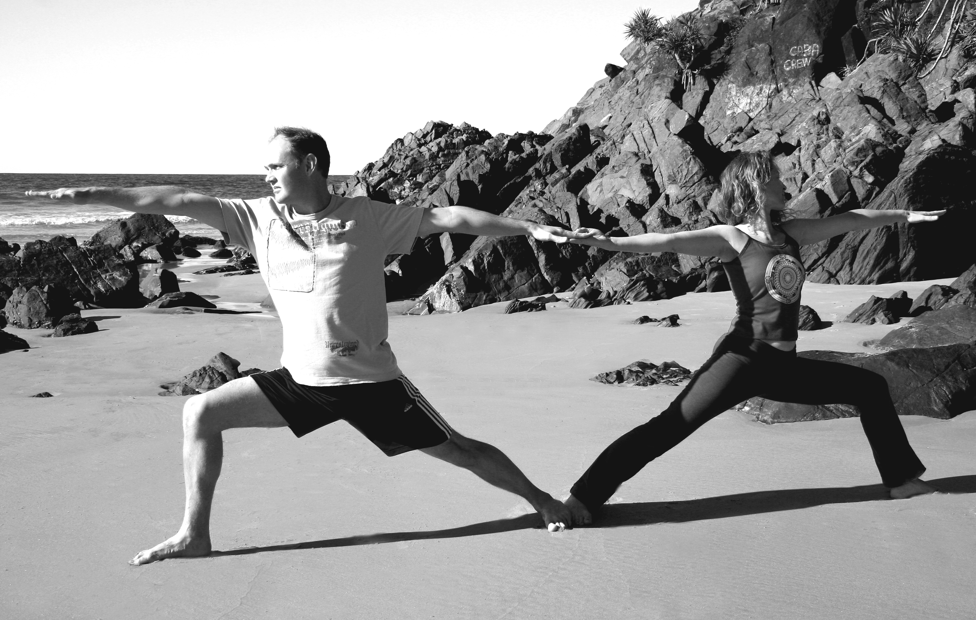 cabarita beach yoga, warriors