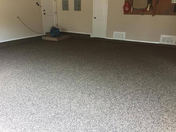 Santana color blend polyasapartic floor coating