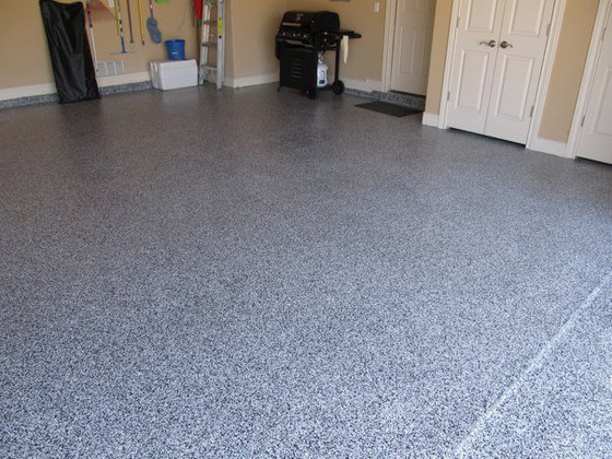 Polyaspartic floor coating in Tuxedo