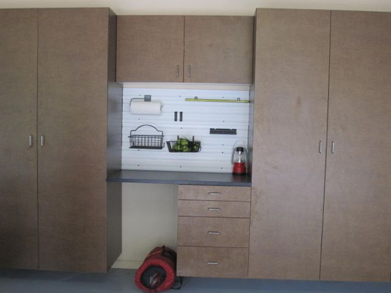 Garage cabinets in copper blaze
