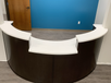 Reception desk for a commercial client
