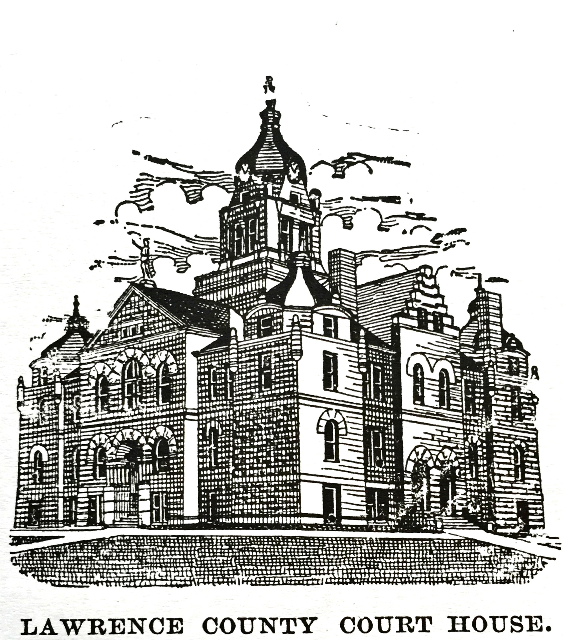 Lawrence County Courthouse sketch