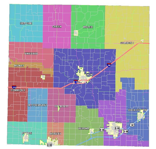 Lawrence County Road District map