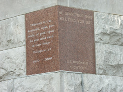 Lawrence Co Courthouse Cornerstone