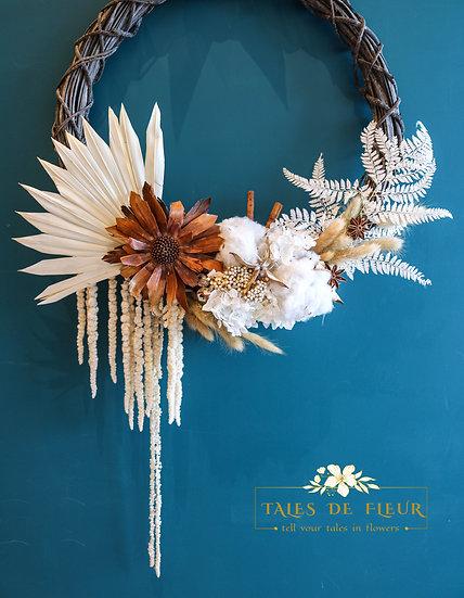 Flower Wreath- Neutral