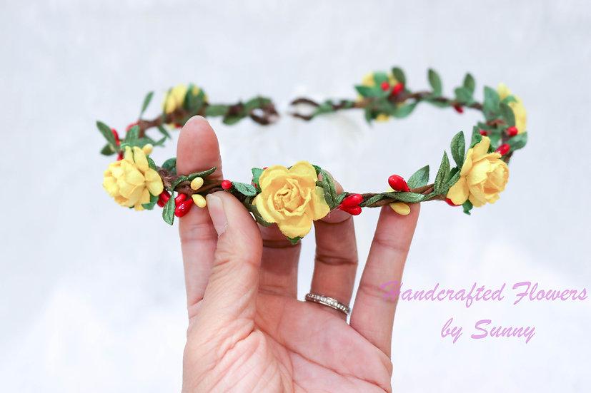 Flower Headpiece - Daffodil Yellow
