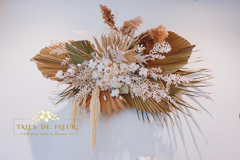 Palm Leaf Wall Decor (Custom-made)