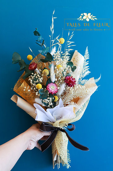 Small Everlasting Bouquet- Spring Color