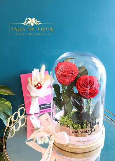 Together Forever- Vibrant Red Rose