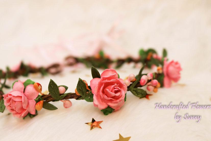 Flower Headpiece - Girly Pink