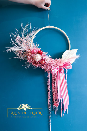 Flower Wreath- Pink