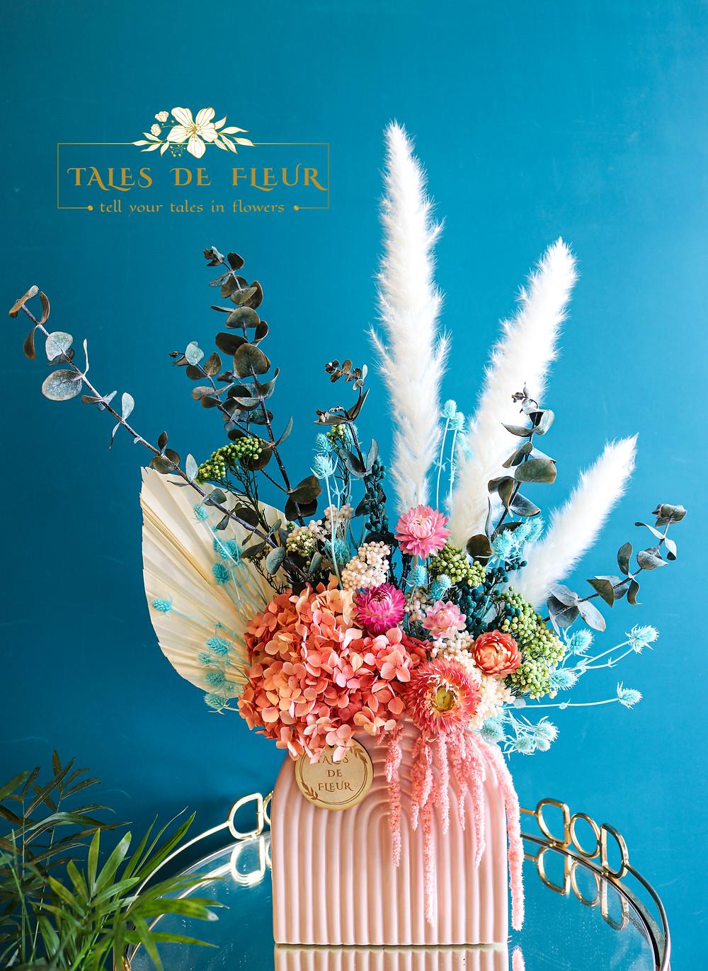 A Beautiful flower arrangement for the graduate!