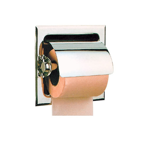 Toilet Paper Holder With Flap Recessed Type
