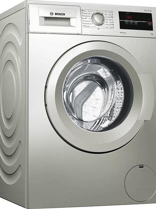 Serie | 2 Washing machine, frontloader fullsize 7 kg silver inox WAJ2017SKE