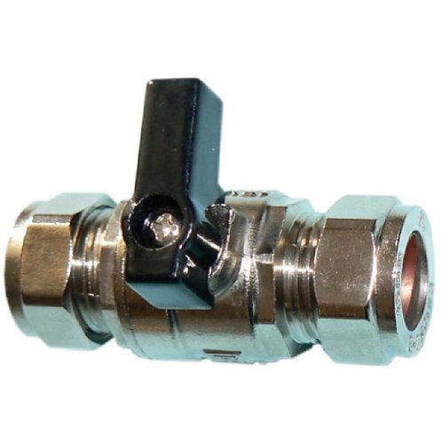 Isolated Valve Full Flow with Lever Chorme Plated