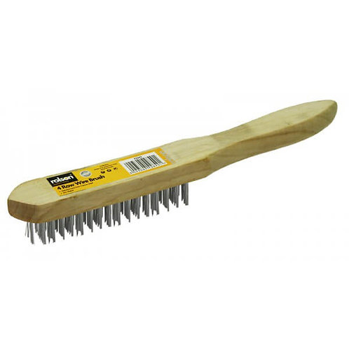 Wire Brush Wood Handle 4 Row ( 42849 )