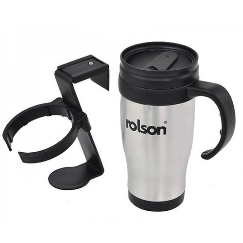 Stainless Steel Travel Mug with Holder ( 42918 )